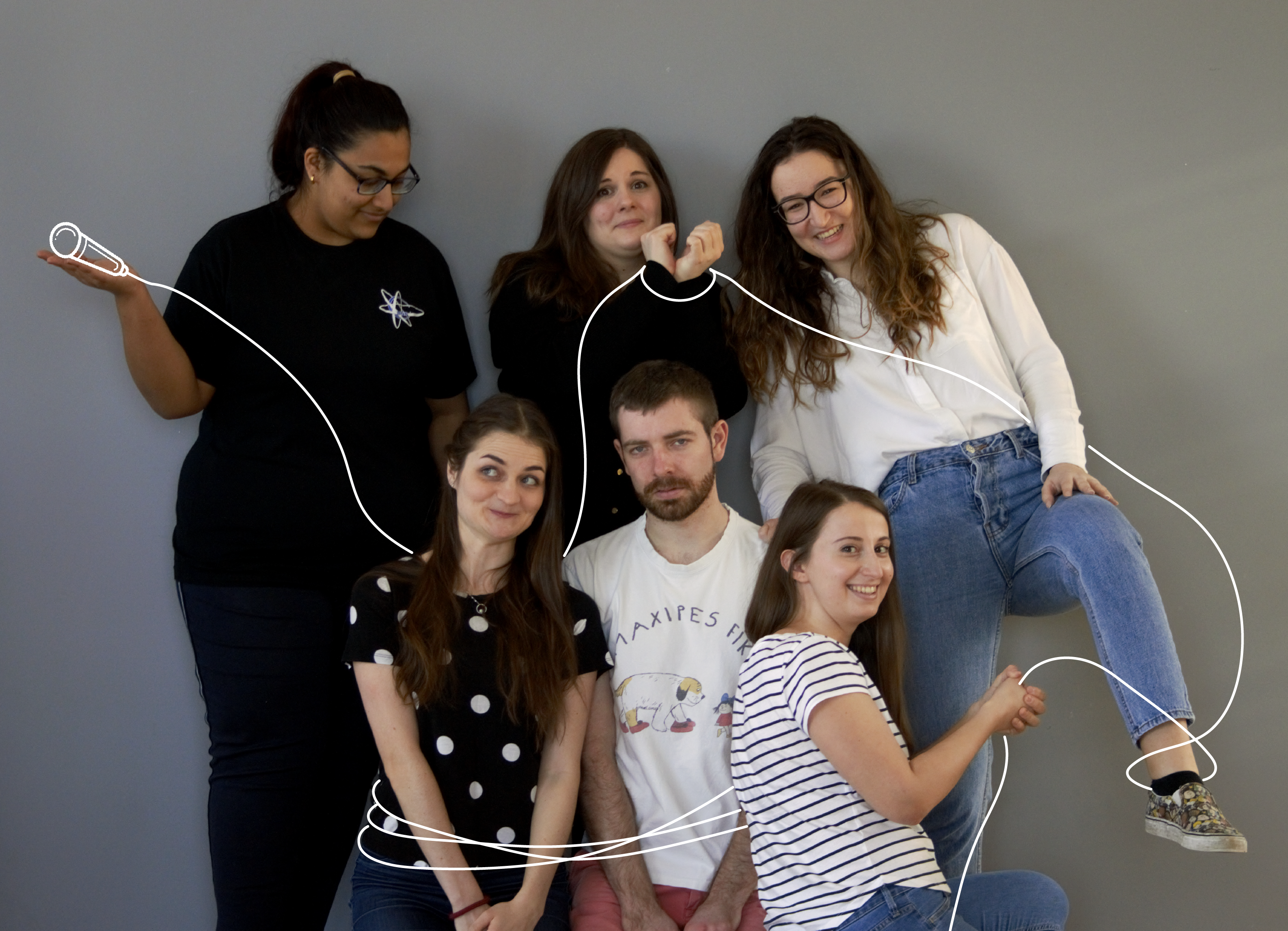 This the us - the six souls behind the Humans of SDU. Nice to meet you.